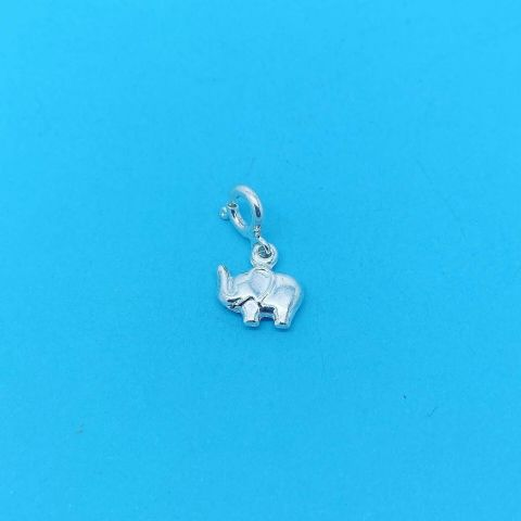 Genuine 925 Sterling Silver Clip On Elephant Charm